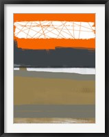 Abstract Orange 1 Framed Print
