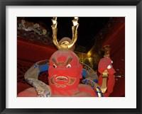 Framed Red Sculpture