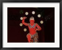 Framed Nikko Red Figure