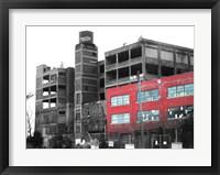 Framed Old Building In Detroit 1