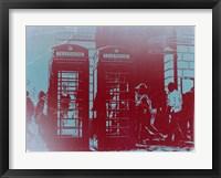 Framed London Telephone Booth