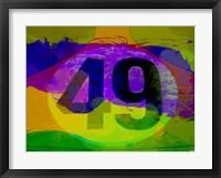 Framed Number 49 Porsche Watercolor