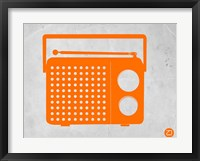Framed Orange Transistor Radio