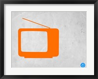 Framed Orange TV Vintage