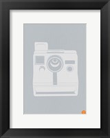 Framed White Polaroid Camera