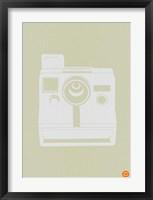 Framed White Polaroid Camera 2