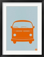 Framed Orange VW Bus