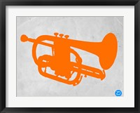 Framed Orange Tuba