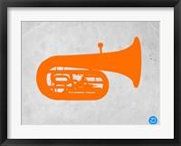 Framed Orange Tuba 2
