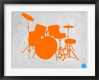 Framed Orange Drum Set