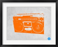 Framed Orange Boom Box