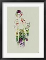 Framed Kimono Dancer 1