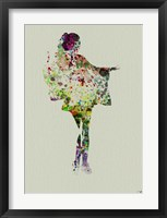 Kimono Dancer 2 Framed Print