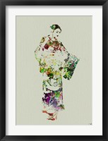 Kimono Dancer 3 Framed Print