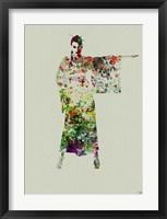 Kimono Dancer 4 Framed Print
