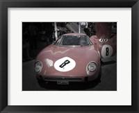 Framed Ferrari Before the Race