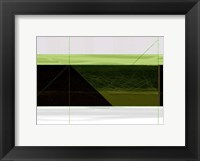 Framed Abstract Green Geometric