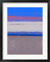 Abstract  Blue View 1 Framed Print