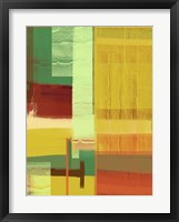 Green and Brown Abstract 2 Framed Print