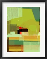 Green and Brown Abstract 5 Framed Print