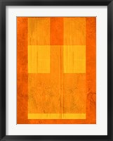 Framed Orange Paper 1