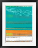 Abstract Orange Stripe2 Framed Print