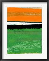 Framed Orange and Green Abstract 1