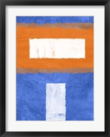 Blue and Orange Abstract Theme 2 Framed Print