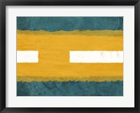 Framed Green and Yellow Abstract Theme 1