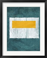Green and Yellow Abstract Theme 4 Framed Print