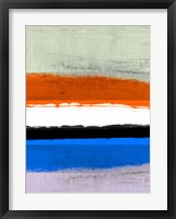 Abstract Stripe Theme White and Black Framed Print