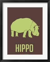 Framed Hippo Green