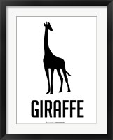 Giraffe Black Framed Print