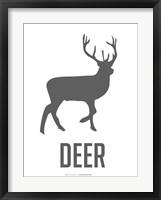 Deer Black Framed Print