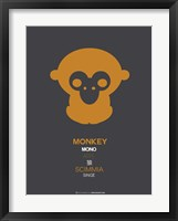 Framed Orange Monkey Multilingual