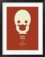 Framed White Bird Multilingual
