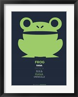 Framed Green Frog Multilingual
