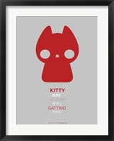Framed Red Kitty Multilingual