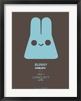 Framed Blue Bunny Multilingual
