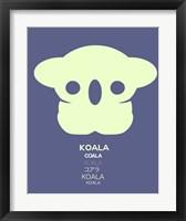 Framed Yellow Koala  Multilingual