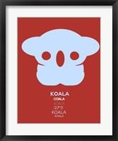 Framed Purple Koala Multilingual