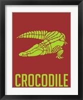 Framed Crocodile Yellow