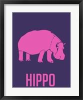 Framed Hippo Pink