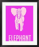 Framed Elephant Pink