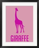 Framed Giraffe Pink