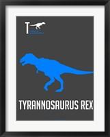 Framed Blue Dinosaur