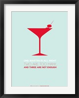 Framed Martini Red