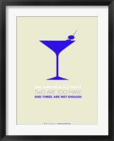 Framed Martini Blue