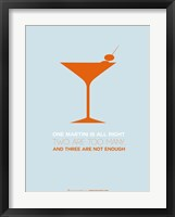 Framed Martini Orange