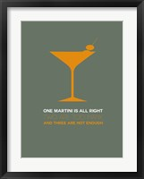 Framed Martini Yellow